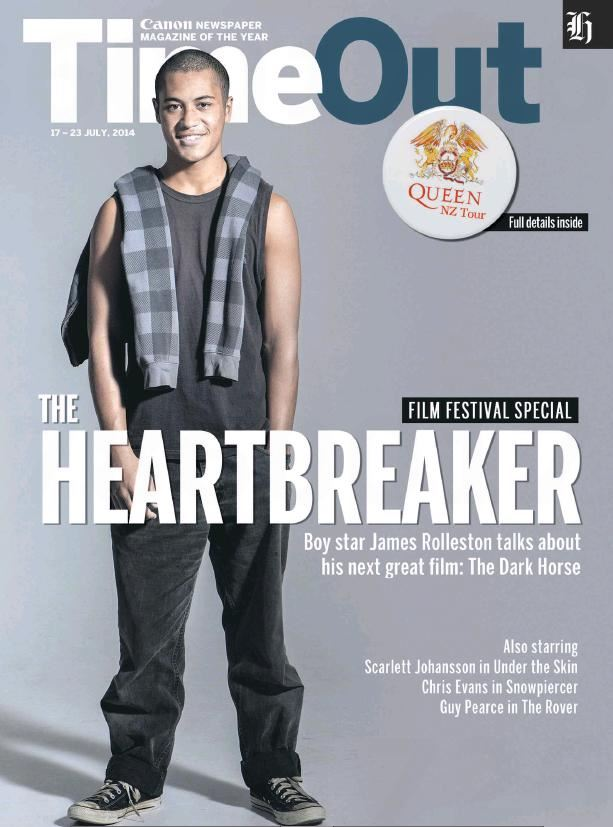 James Rolleston on the cover of TimeOut