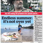 NZ Herald front cover